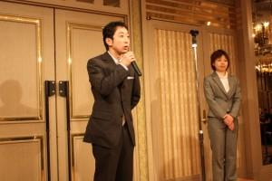 校友会会長安田さん(ME2期生)・副会長新田さん(ST3期生)より、お祝いの言葉をいただきました。i-medical卒業生による校友会、みんなで盛り上げていきましょう!